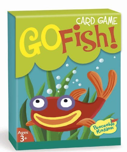 (Peaceable Kingdom Go Fish! Classic Card Game for Kids - 48 Cards with Gift Box )