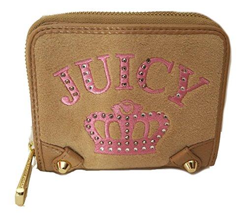Juicy Couture Velour Medium Zip Around Wallet Light - Velour Couture Juicy Zip Wallet