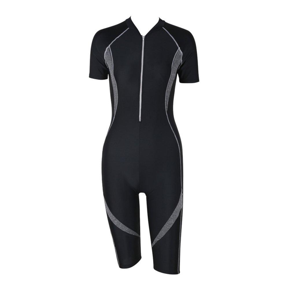 女性の水着レディースアウトドアスポーツウェア半袖の速乾性水着レディースサーフスーツシングルピースウェットスーツサーフキット水泳用品スポーツ用スパ (Size : XL) B07F2GVYZZ X-Large