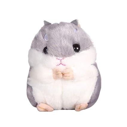 STOBOK Kawaii Hamster Peluche de Juguete Llavero Animal de ...