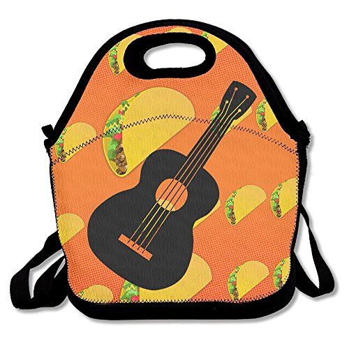 Guitar Unisex Lunch Box Food Bag For Adults Kids Lunch Bag For - Valentinea Day Ideas