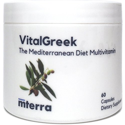 VitalGreek | Mediterranean Diet Multivitamin | Heart, Brain, and Anti-Aging Nutrition | 60 Capsules (2/Day)