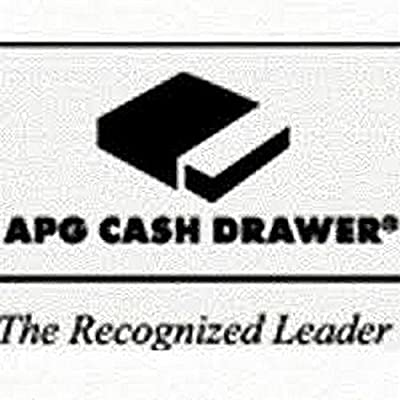 "APG JB320-BL1816-C-K7 Series 4000 Cash Drawer, MultiPRO 24V Interface, Painted Front, Standard Coin Roll Storage Till, 18"" W x 16"" D, Black"