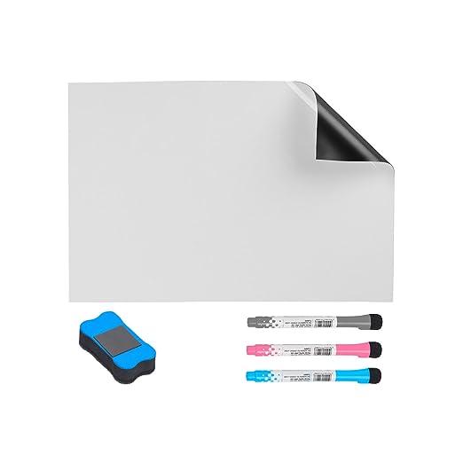 Fengus - Pizarra blanca magnética para frigorífico, imanes blancos ...