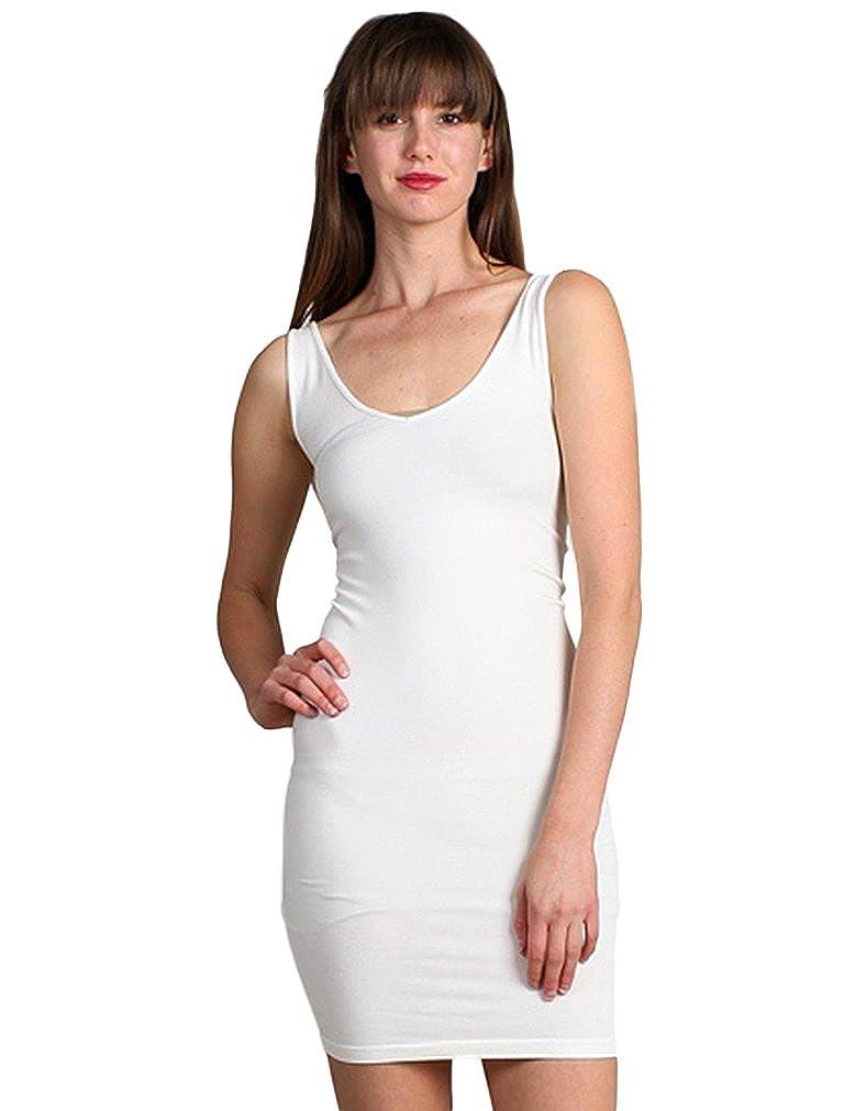 M-Rena Sleeveless V-neck//Scoop Neck Dress
