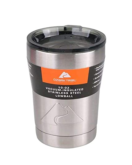 391660f19c6 Ozark Trail 10oz Vacuum Insulated Stainless Steel Lowball Tumbler Cup Mug