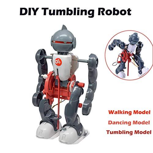 Euone  Tumbling Robot Kit Clearance Sale , DIY Electric Tumbling Dacing Robot 3-Mode Assembly Creative Science kit