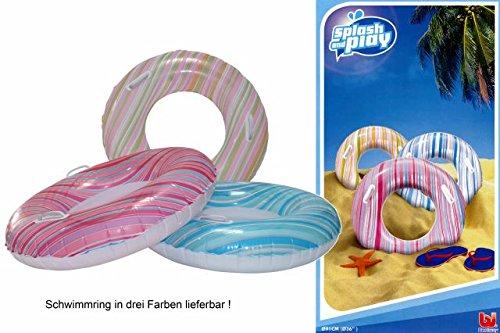 Bestway Schwimmring Streifen 91 cm pink-blau Schwimmreifen