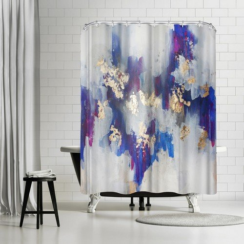 """Golden Road Shower Curtain by Christine Olmstead, 74"""" H x 71"""" W x 0.1"""" D"""