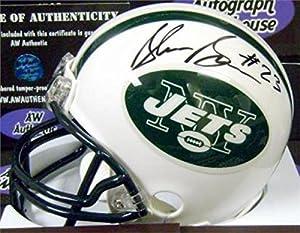 Autograph Warehouse 345226 Shonn Greene Signed Mini Helmet - New York Jets Football Iowa Hawkeyes Alumni JSA Hologram Authentication