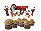 scary halloween decorating ideas 9pcs Scary Halloween Party Bloody Zombie Cupcake Toppers Cake Picks Table Dish Decoration