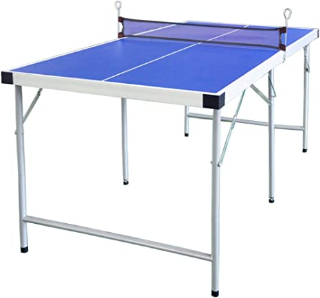 hlc Mesa de Ping Pong plegablede para niños 154 * 77 * 69 CM,Color Azul: Amazon.es: Deportes y aire libre