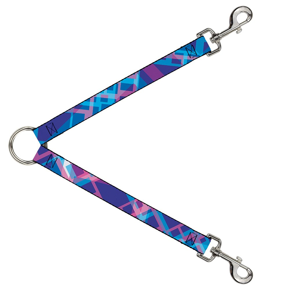 Buckle-Down DLS-W37162-W Squares Stacked bluees Pinks Purples Leash Splitter, 1.5  Wide 30  Length