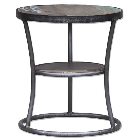 Beistelltisch metall holz rund  Beistelltisch Tisch Nachttisch rund Ablage Metall Holz metall ...