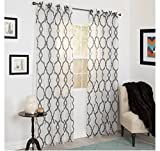 Cheap Single Piece Charcoal Home Decor Curtain Panel, Contemporary, 52×108 Size, Embroidered, Grommet, Light And Decorative Curtain Panel, For Luxury Room