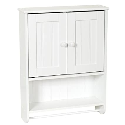 amazon com bathroom wall cabinet white for mounted wood cabinets rh amazon com Toilet Wall Cabinet White Small Wooden Wall Cabinet White