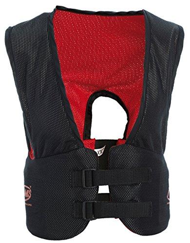 Adult Football Flac Jacket (ADAMS USA Adult Blocking Rib Vest, Black/Red,)