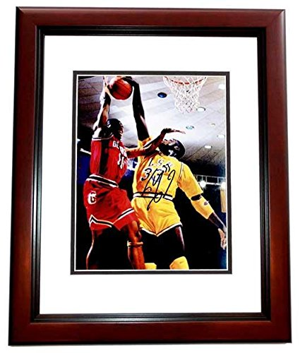 Shaquille O'Neal - SHAQ Signed - Autographed LSU Tigers 8x10 inch Photo MAHOGANY CUSTOM FRAME - Guaranteed to pass or JSA - PSA/DNA Certified (Oneal Frame Shaquille)
