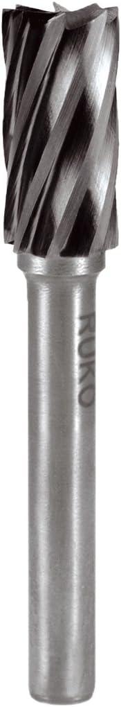 Ruko 116015A Fresas metal duro para aluminio forma A - ZYA cilíndrica sin dentado frontal (6 x 58 mm), 6 mm