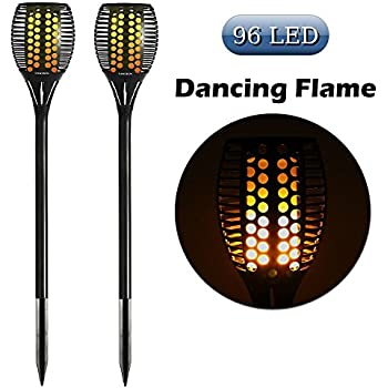 Newhouse Lighting Solar Flickering Led Tiki Torches