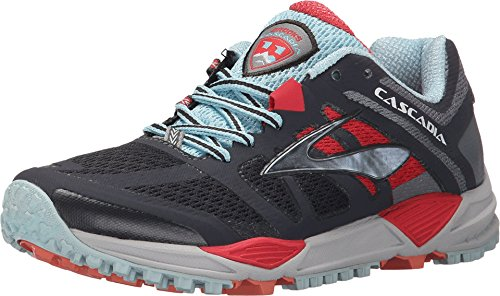 Brooks Women's Cascadia 11 Anthracite/Hibiscus/Crystal Blue Sneaker 7.5 B (M) ()