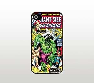 Comic Book iPhone 5 5s Case - Cool Black Plastic Snap-On Cover - Hulk Defenders Design