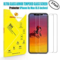 2-Pack ZeroLemon iPhone Xs Max 6.5inch Tempered Glass Film Screen Protector for OLED Display