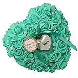 Somnr® 1PCS Wedding Favors Ring Pillow With Transprent Ring Box Heart Design Very Special Unique Ring Pillow Decorations Favor Mint Green / Aqua Green