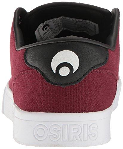Osiris Herren Slappy Skateboard Schuh Oxblood / Schwarz / Weiß