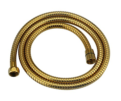 Shower Head Hose 59-Inch, APLusee Stainless Steel Replaced Flexible Shower Head Adapter with Swivel Free Brass Connector, Anti-Kink Detachable Shower Wand Hose 4.9ft, (Brass Wand Replacement)