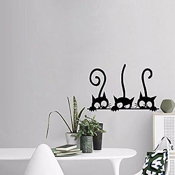 Daadi Tres Gatos de Pared pequeño salón Dormitorio habitación Infantil decoración de Arte de Pared de