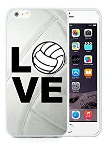High Quality iPhone 6 Plus 5.5 Inch TPU Case ,Cool And Fantastic Designed Case With Volleyball Keep Calm Play On Volleyball Player White iPhone 6 Plus Cover