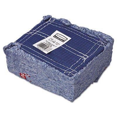 Rubbermaid Commercial Swinger Loop Wet Mop Head, X-Large, Cotton/Synthetic, Blue, 6/Carton