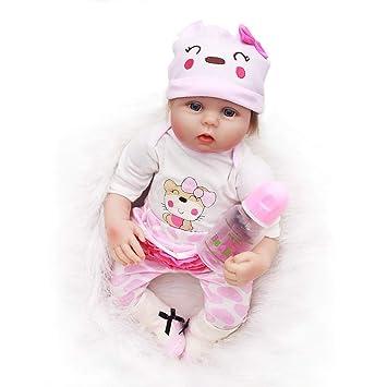 e706227a994f ... 22inch 55CM Magnetismo Reborn bebé Realista muñeca niñas Vinilo Suave  Silicona eso se ve Real Baby Doll Niños pequeños Girls Juguetes Recien  Nacidos ...