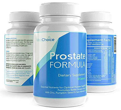 Med Choice Optimum Prostate Formula, Prostate Supplements for Men, Prostate Support Softgel Capsules (90-Count), Enhanced Saw Palmetto Prostate Supplement for Better Urinary Flow & Hair Growth (The Best Prostate Formula)