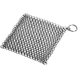 Snake Eye Cast Iron Cleaner XL 7x7 Premium Stainless Steel Chainmail Scrubber