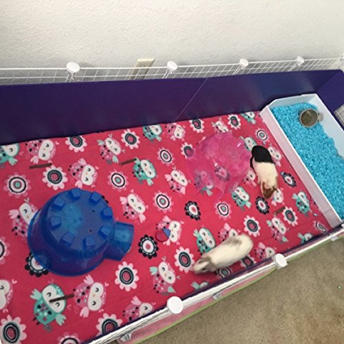 Fleece cage liner 2x6 c&c cage 3 layer for guinea pigs by kelliscraftsandmore
