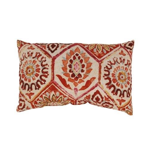 Pillow Perfect Summer Breeze Rectangular Throw Pillow, Crimson