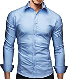 (US) Marco Marcucci Dress Shirt for Men Flim Fit - Long Sleeve Casual Italy Design