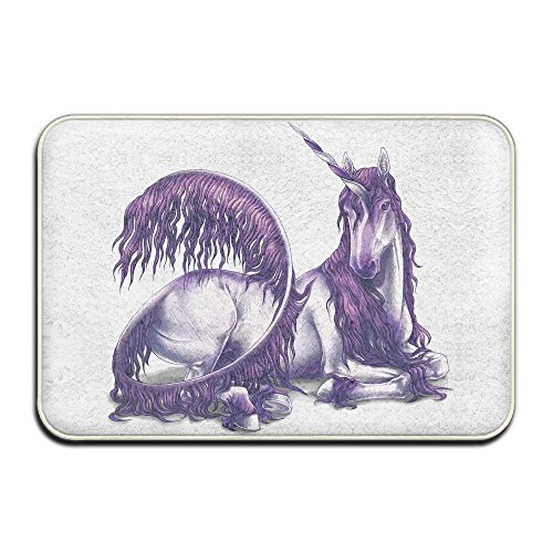 Reteone Noble And Holy Unicorn Pattern Doormats Entrance Mat Non-slip Indoor Outdoor Floor Door Rug Bathroom Mats Home Decor by Reteone