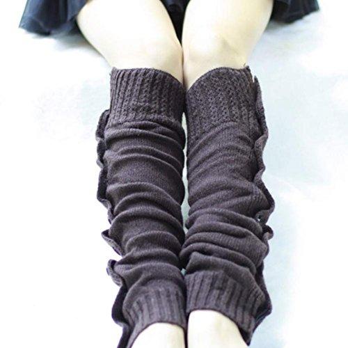 Cotton Leg Warmers Socks,Hemlock Womens Girl's Long Knitted Leg Socks Boot Cuffs (Dark Grey)