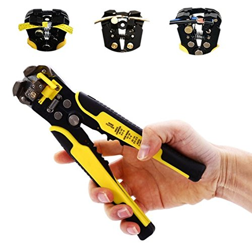 Crimper, Wire Stripping Tool Self-adjusting cable strippe...