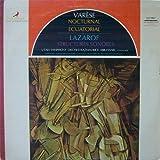 Varese: Nocturnal, Ecuatorial. Lazarof: Structures Sonores. USO, Abravanel, Cond.