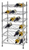 Muscle Rack WBS181435 24-Bottle Chrome Wine Rack, 18″ by 14″ by 35″, 35″ Height, 18″ width, 660 lb. Load Capacity Review