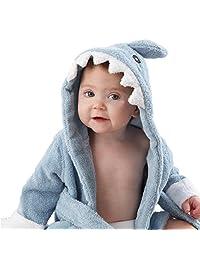 Loveylife Baby Animal Robe Soft Baby Hooded Sleepwear Baby Shark Robe