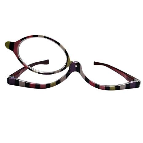 ba4de1d7f26b9e Inlefen Femmes de mode de cadre multicolore faisant des verres de lecture  avec un lentilles de flip-up  Amazon.fr  Vêtements et accessoires