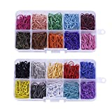 IPOTCH 600 Pieces Assorted Bulb Safety Pins Calabash Pins Pear Shaped Pins Knitting Stitch Markers with Storage Box