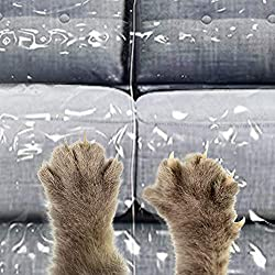RHF Plastic Couch Cover, Kitty Cat Protector, Couch Cover For Pets, Cat Scratch Couch Cover Cat Deterrent, Waterproof Clear See-Thru Plastic Furniture Covers, Sectional Couch Covers Plastic Sofa Cover