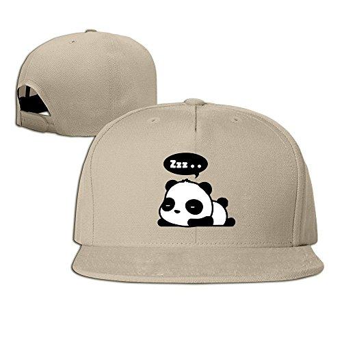 HmkoLo Sleeping Panda Cotton Baseball Cap Snapback Hip Hop Hat (Fantasy Custom Costumes Co)