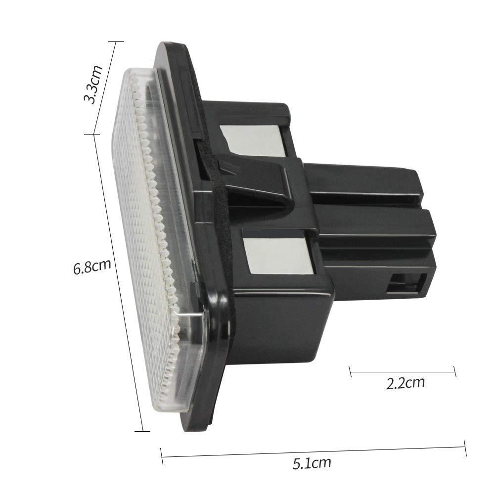 B-M-W E39 E60 E90 Lumi/ères de plaque dimmatriculation 24-SMD LED Erreur libre pour 1 s/érie E82 E88 5 s/éries E39 E60 E60N E61 3 s/éries E90 E90N E91 E92 E93 M3 E46 CSL X Series E70 E71 Paire